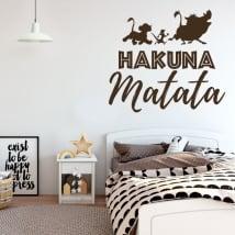 Vinile decorativo frasi il re leone hakuna matata