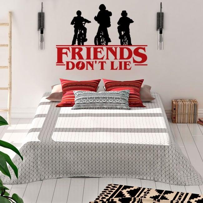 Vinile e adesivi stranger things friends don't lie