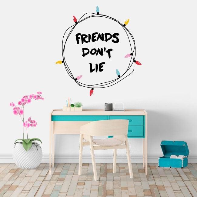Vinile adesivo stranger things friends don't lie