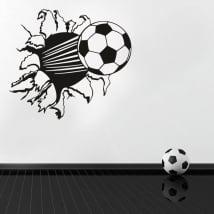 Autoadesivi vinili pallone da calcio effetto 3d