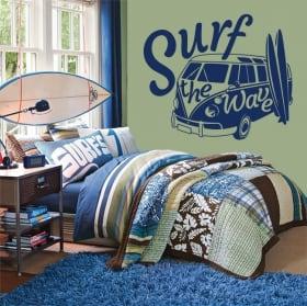 Vinili e adesivi surf the wave