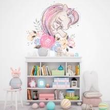 Vinile per bambini o neonati amore di unicorni