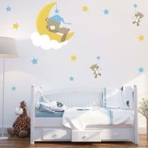 Vinile e adesivi per bambini o neonati orsi sogni d'oro