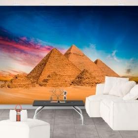 Murali in vinile di piramidi di giza