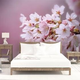 Murali in vinile fiore di ciliegio giapponese