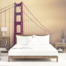 Murali in vinile ponte golden gate