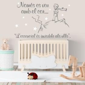 Vinili e adesivi per bambini il piccolo principe in catalano