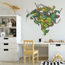 Adesivi in vinile tartarughe ninja