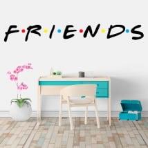 Adesivi e vinile netflix logo serie friends