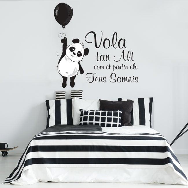 Vinili frasi catalane l'orso panda vola alto
