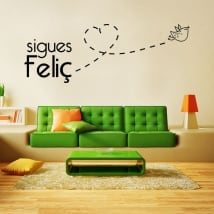 Vinile e adesivi frasi catalane sei ancora felice