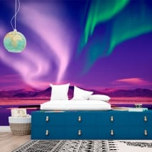 Murali in vinile aurora boreale