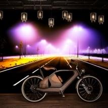 Murali in vinile luci sulla strada