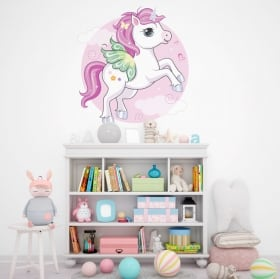 Vinile e adesivi bambini unicorno