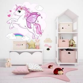 Vinile decorativo e adesivi con unicorni