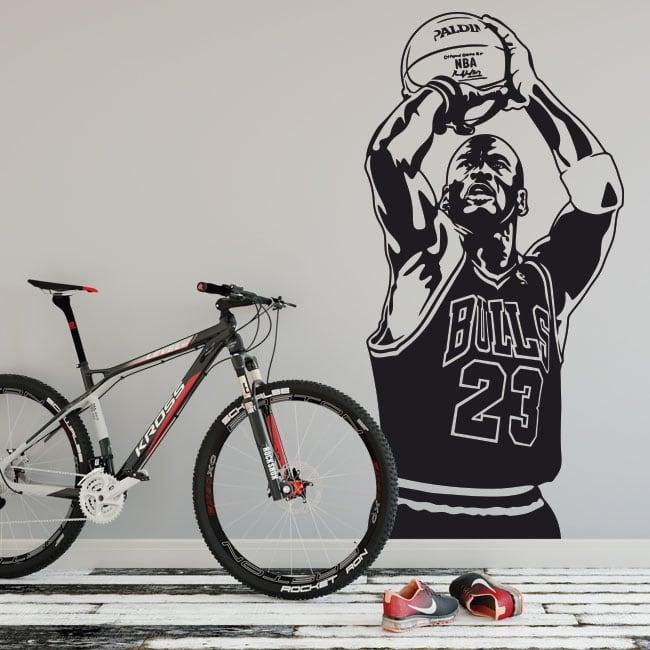Vinile e adesivi michael jordan pallacanestro