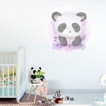 Vinile e adesivi per bambini o neonati orso panda