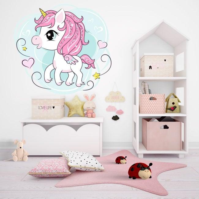 Vinile e adesivi unicorno infantile
