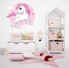 Vinile decorativo e adesivi unicorno infantile