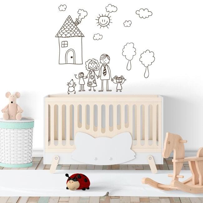 Vinile decorativo o adesivi disegno per bambini