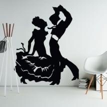 Vinile decorativo e adesivi di flamenco