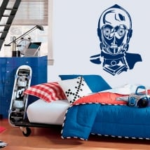Vinile decorativo robot c-3po guerre stellari