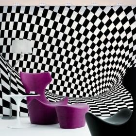 Murali in vinile effetto ottico