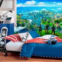 Murales vinile adesivo videogioco fortnite