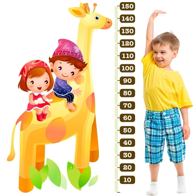 Vinile e adesivi metro giraffa bambino