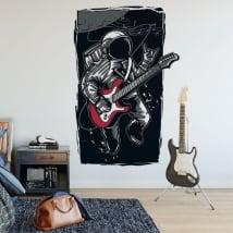 Vinile e adesivi astronauta rock and roll