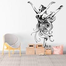 Vinile e adesivi silhouette donna ballerina