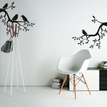 Vinile e adesivi rami di un albero con gli uccelli