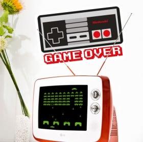 Vinile e adesivi videogiochi game over