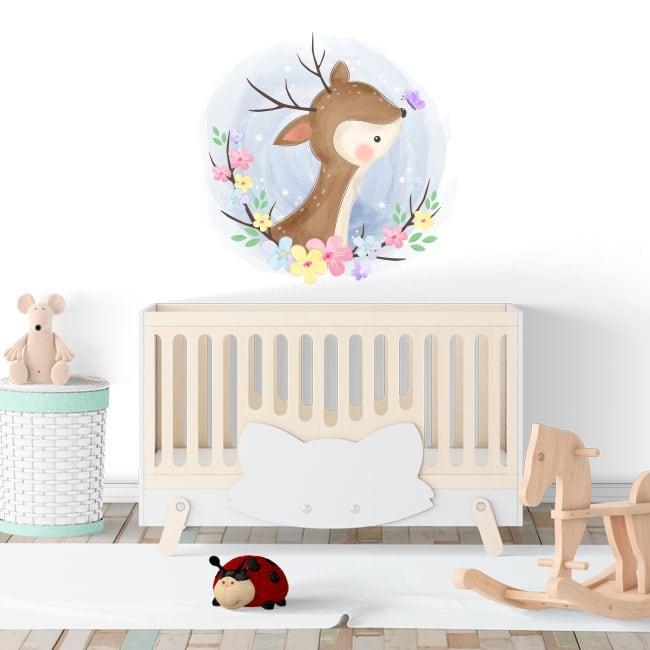 Vinile e adesivi per i neonati bambi con farfalla