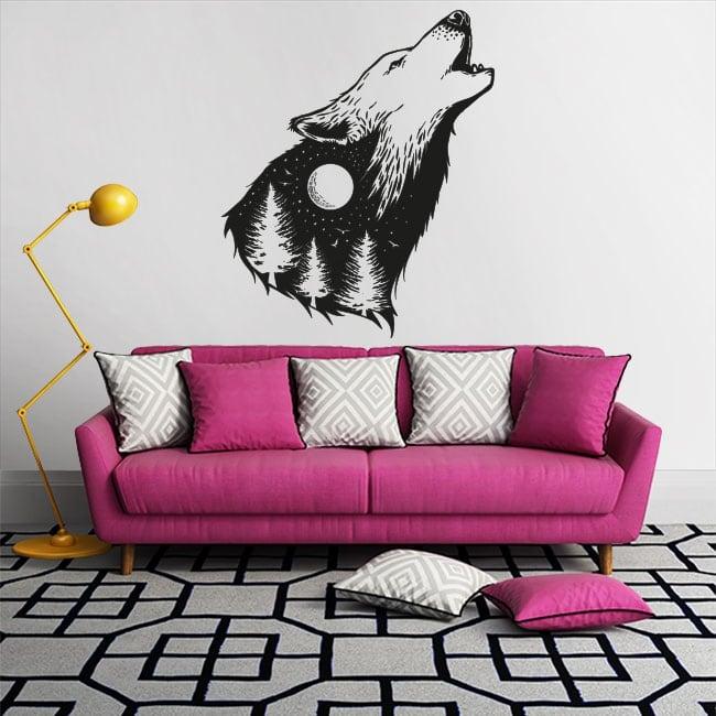 Adesivi in vinile lupo selvatico