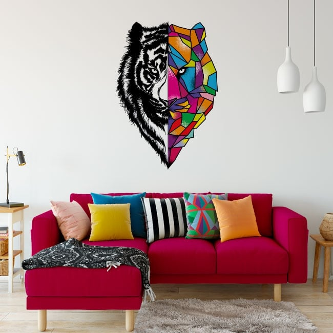 Vinile e adesivi tigre triangoli