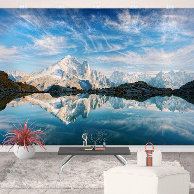 Murali in vinile lago bianco francia