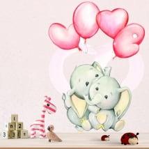 Vinili e adesivi elefanti con palloncini love