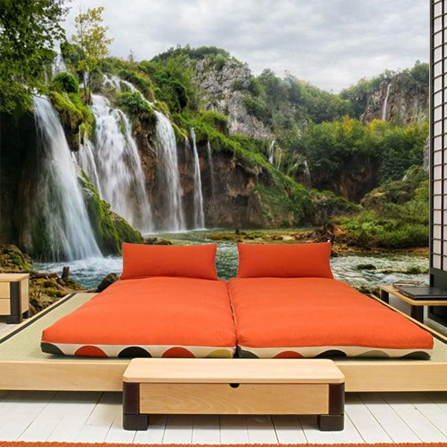 Murali in vinile paesaggio con cascate