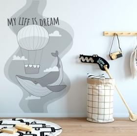 Vinile decorativo frase segui i tuoi sogni