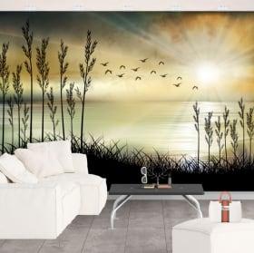 Murali in vinile illustrazione del paesaggio
