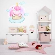 Vinile e adesivi per bambini unicorno tra le nuvole