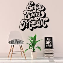 Vinili e adesivi frase inglese enjoy every moment