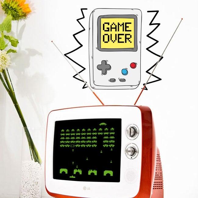 Vinile decorativo video gioco game over