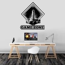 Vinile decorativo videogiochi zona di gioco