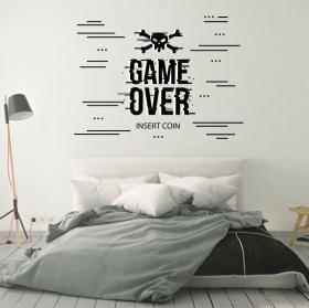 Adesivi per videogiochi game over insert coin