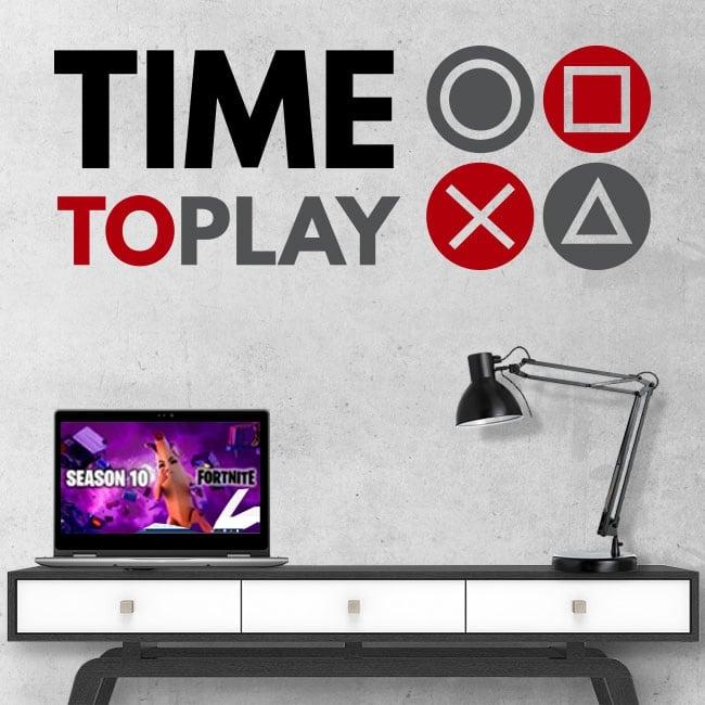 Vinili e adesivi video gioco time to play