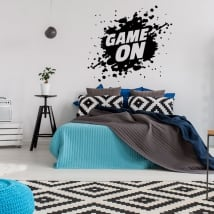 Vinile decorativo video gioco game on
