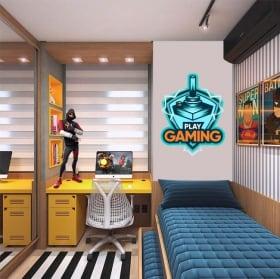 Vinile decorativo e adesivi play gaming