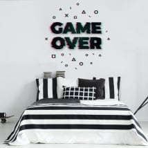 Vinile decorativo e adesivi game over